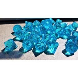 Akrylový diamant modrý na zavěšení průměr 1,6 cm