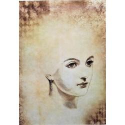 Rýžový papír Obličej dámy A4