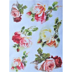 Rýžový papír Růže A4