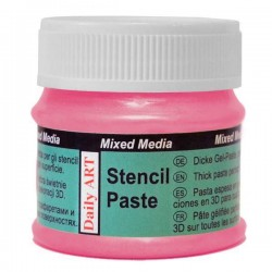 Pasta na šablony růžová perleťová 50 ml Daily ART