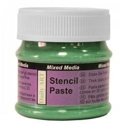 Pasta na šablony zelená perleťová 50 ml Daily ART