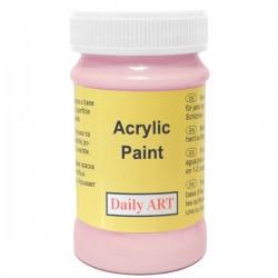 Akrylová barva růžová 100 ml, DailyART