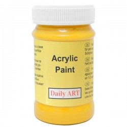 Akrylová barva žlutá 100 ml, DailyART