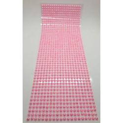 Samolepící perličky růžové perleťové 1000 kusů 3 mm
