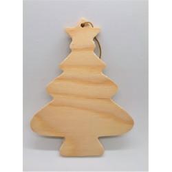 Stromeček dřevěný na zavěšení k dalšímu dekorování