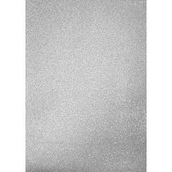 Třpytivý stříbrný samolepící papír A4