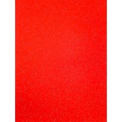 Třpytivý samolepící papír červený A4