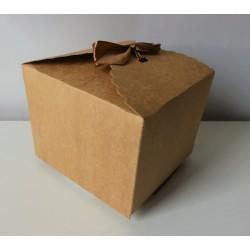 Krabička papírová dárková s mašlí 9 x 12 x 12 cm