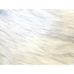 Umělá kožešina šedobílá 20 x 34 cm