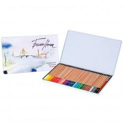 Pastelky akvarelové White Nights v kovové dárkové kazetě 36 ks