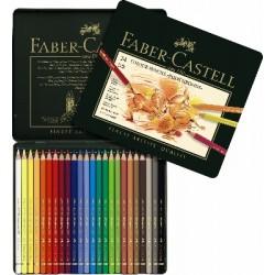 Pastelky Polychromos v kovové kazetě 24 kusů Faber Castell