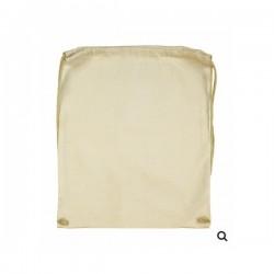 Batoh, bavlněný, světlý, krémový, 46 cm x 37 cm