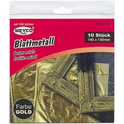 Zlaté plátky 14x14 cm 10 kusů Meyco