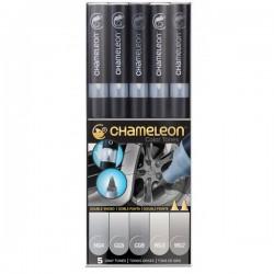 Chameleon tónovací fixy sada 5 kusů šedé tóny