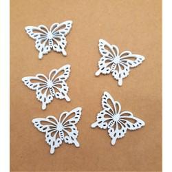 Motýlek bílá barva 4 x 3 x 0,2 cm