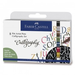 Kaligrafická sada Pitt Artist Pens 8 kusů Faber Castell