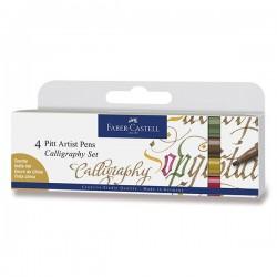 Kaligrafická sada Pitt Artist Pens 4 kusy Faber Castell