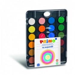 Vodové barvy 24 odstínů Primo + štětec