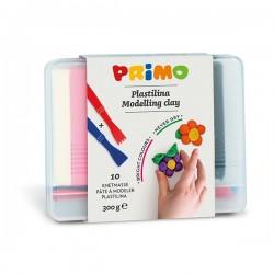 Plastelína 10 barev 300g Primo