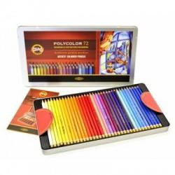 Pastelky umělecké Polycolor 72 kusů v kovové krabičce KOH-I-NOOR