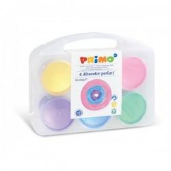 Prstové barvy perleťové sada 6 x 100g Primo