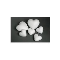 Polystyrenové srdce, vel. 6 cm