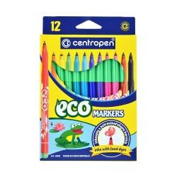 Popisovače (fixy), sada 12 barev, ekologické