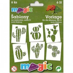 Šablony papírové Kaktusy sada 6 kusů