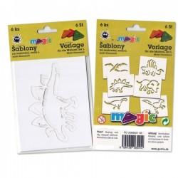 Šablony papírové Dinosauři sada 6 kusů