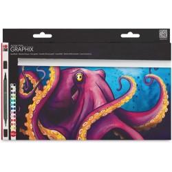 Aqua pen Graphix sada 24 kusů Octopus Marabu
