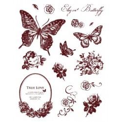 Gelová razítka Motýlci a květinová zahrádka