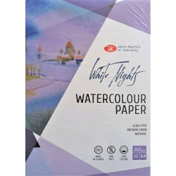 Blok na akvarel White Nights 70% bavlny A4 10 listů 260g/m² Nevskaya Palitra