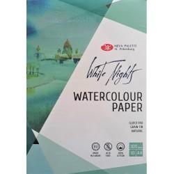 Blok na akvarel White Nights 10 listů A4 100 % bavlna 300g/² Nevskaya Palitra