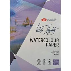 Blok na akvarel White Nights 70% bavlny A3 10 listů 260g/m² Nevskaya Palitra