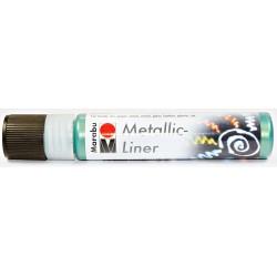 Metalický liner tmavě zelený 25 ml Marabu