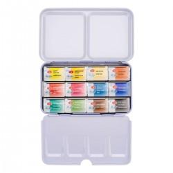 Akvarelové barvy v kovovém boxu 12 kusů White Nights Nevskaya Palitra