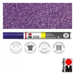 Popisovač na textil Textil Plus černý glitrový 3 mm Marabu