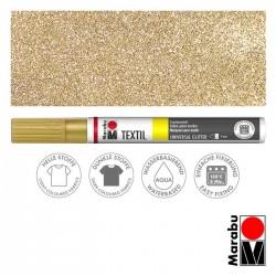 Popisovač na textil zlatý glitrový 3 mm Marabu