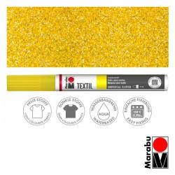 Popisovač na textil žlutý glitrový Marabu