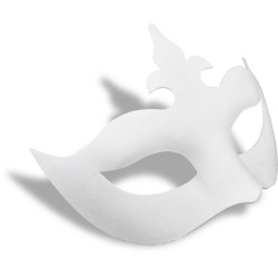 Maska obličejová papiermaché Benátská kráska průměr 18 cm Meyco