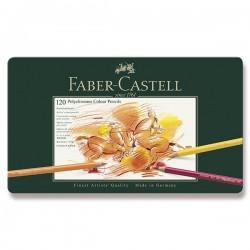 Pastelky umělecké Polychromos 120 kusů Faber Castell v kovové krabičce