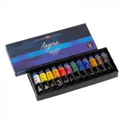 Barvy umělecké akrylové, sada 12 x 18 ml, Ladoga, Nevskaya Palitra