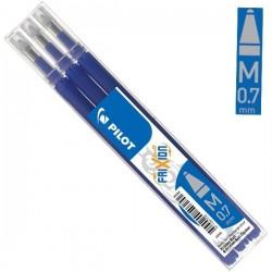 Náplně do gumovacího pera Pilot modré 0,7 mm 3 kusy