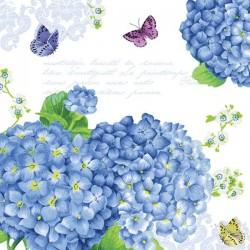 Ubrousek Modré hortenzie 33x33 cm