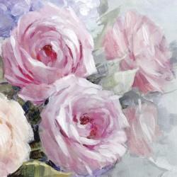 Ubrousek Růžové růže 33x33 cm