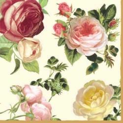 Ubrousek Shabby růže 33x33 cm