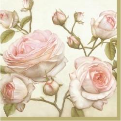 Ubrousek na decoupage Růžičky 33x33 cm