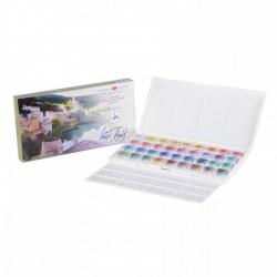 Akvarelové barvy sada 36 kusů v plastové krabičce White Nights Nevskaya Palitra
