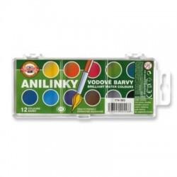 Vodové barvy Anilinky 12 odstínů KOH-I-NOOR