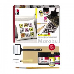 Linorytová sada Soft Linol Textil Marabu